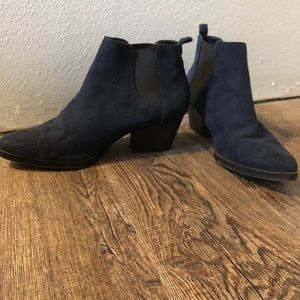 Blue Suede Booties Size 7